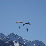 Fallschirmspringen Zell am See Fallschirmsprung