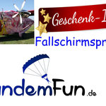 Fallschirmspringen Klatovy Klattau Tschechien Tandemsprung