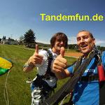 Fallschirmspringen Geschenk Gutschein Oberbayern
