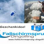 Gutschein tandemsprung weihnachten Geschenk fallschirmspringen