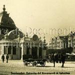 1935 Estación de la Costa. A la derecha, edificios de Calderón de la Barca