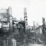 1941 Casas de Ruamayor en llamas desde la Calle Cádiz