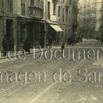 1925 Atarazanas desde su confluencia con la Cuesta del Hospital (a la derecha) hacia el este