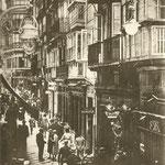 1929 Calle San Francisco desde el oeste. Al fondo, Plaza Vieja