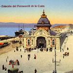 c.1910 (Imagen anterior coloreada) Estación de la Costa