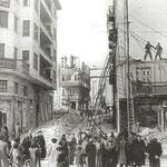 1941 Ruinas de la Calle Lealtad desde La Ribera. A la izquierda, Edificio Ubierna