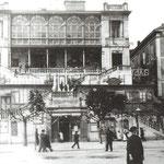 1918 Salón Pradera, donde en 1923 se levantaría el Banco de España