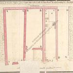 """1803 """"Plano de las Posesiones de Cuatro Solares para Casas sitas en la Calle de San Francisco de esta Ciudad de Santander..."""""""
