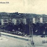 ¿Año? Avenida de Alfonso XIII y Jardines de Pereda desde el suroeste. A la izquierda, edificio de la Aduana