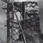 """1946 Contrafuerte de la Catedral que caía al sureste, sobre la Calle Cádiz. Fue desmontado durante la """"reconstrucción"""""""