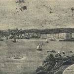 1838 Vista general de Santander desde el este (desde el Fuerte de San Martín)