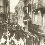 1905 Calle San Francisco desde la Plaza Vieja
