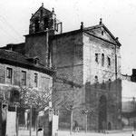 1886 Convento de San Francisco (izquierda) e iglesia (derecha)
