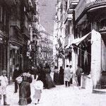 1908 Calle San Francisco desde la Plaza Vieja