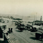 c. 1910 Muelles junto a Calderón de la Barca. A la izquierda, Estación de la Costa