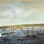 1851 Vista general de Santander desde la Bahía