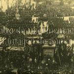 1908 Plaza Velarde desde el oeste, durante la celebración del centenario del 2 de mayo de 1808