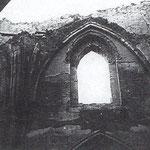 1941 Tramo del claristorio sur tras el incendio