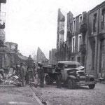1941 Ruinas de la Calle Cádiz tras el incendio desde el oeste