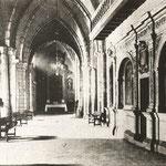 1935 Nave lateral norte de la Catedral. A la derecha, el coro barroco desaparecido en 1941