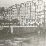 """1880 La Ribera desde """"La Dársena"""" (actuales Jardines de Pereda)"""