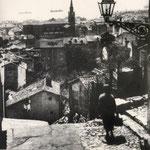 1915 Vista desde la zona de Prado San Roque hacia el sur. La zona que queda a la derecha de la iglesia de los Jesuitas, parcialmente tapada por la farola, es el casco antiguo desaparecido en 1941