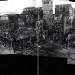 1941 Panorámica de casi 360 grados de todo el centro de Santander en ruinas tras el incendio. Tomada desde el Edificio Ubierna