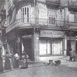 ¿Año? Esquina suroeste de la Plaza Vieja. A la izquierda arranca la Calle San Francisco