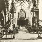 1920 Nave central de la Catedral. Toda la decoración interior desapareció en 1941