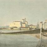 c. 1823 Vista general de Santander desde el este (zona del actual Paseo Pereda)