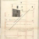 1795 Planta y sección de unas casas en la Calle de San Francisco