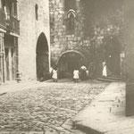 1885 Comienzo de Ruamayor junto a la Catedral. Desde el oeste