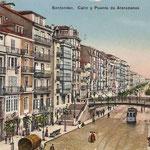 1913 (Foto anterior coloreada) La Ribera desde Atarazanas