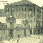¿Año? Comienzo de Atarazanas desde el puente. En primer plano, Mercado de Atarazanas, derribado en 1939