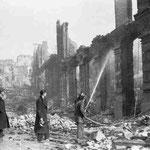 1941 Restos de la Calle Carbajal desde la Plaza de las Escuelas