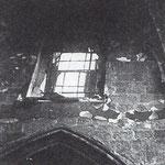 1941 Tramo del claristorio norte tras el incendio