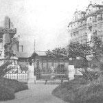¿Año? Extremo oeste de Calderón de la Barca. A la izquierda, Monumento del Machichaco; a la derecha, Hotel México (aún en pie)