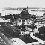 ¿1929 o 1934? Estación de la Costa desde los edificios de Calderón de la Barca