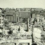 1941 Vista general desde la zona de la Calle del Rincón hacia el norte. En primer plano, La Ribera, con la Calle Lealtad y el Edificio Ubierna a la izquierda; al fondo, Coliseum e Instituto Santa Clara