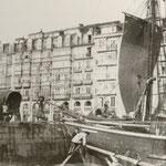 """¿1871 o 1873? La Ribera desde """"La Dársena"""" (actuales Jardines de Pereda)"""