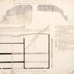 """1827 """"Plano de las dos posesiones que disputan el Paredon que las divide"""""""