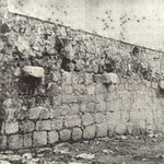 ¿Año? Lienzo de la antigua muralla medieval en la zona de la Plaza de los Remedios, donde luego se levantaría el Cine Coliseum
