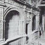 """Años 40. Coro barroco tras el incendio. Fue desmontado durante la """"reconstrucción"""""""