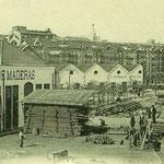 1903 Calderón de la Barca desde el suroeste. Por detrás asoman los tejados de Ruamayor y la torre del Palacio Episcopal