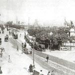 ¿Año? La Ribera y la Plaza Velarde desde el Puente