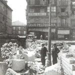1908 Obras de derribo del viejo puente de Vargas desde La Ribera