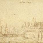 1563-1567 Vista general de Santander desde el este