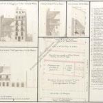 1803 Planta, alzados y secciones de un grupo de casas y solares entre las calles de San Francisco y Atarazanas
