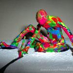 """""""Escultura de un pintor / Pintura de un escultor, 2010"""" Capas de pintura acrílica sobre tela"""