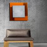 ART. 1070  DECORO LEO ARANCIO/MARRONE - DIAMETRI -45*45 / 59*59